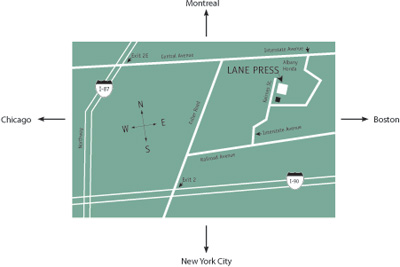 map to Lane Press